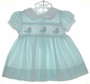 """<img src=""""https://p11.secure.hostingprod.com/@grammies-attic.com/ssl/images/blue-sold-1.gif""""> Carriage Boutiques Green Checked Dress with Smocking"""