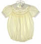 """<img src=""""https://p11.secure.hostingprod.com/@grammies-attic.com/ssl/images/blue-sold-1.gif""""> Carriage Boutiques Pale Yellow Bubble with Floral Embroidery"""