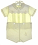 """<img src=""""https://p11.secure.hostingprod.com/@grammies-attic.com/ssl/images/blue-sold-1.gif""""> Carriage Boutiques Pale Yellow Button On Shorts Set with Ducks"""