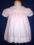 """<img src=""""https://p11.secure.hostingprod.com/@grammies-attic.com/ssl/images/blue-sold-1.gif""""> Carriage Boutiques Palest Pink Smocked Dress with Matching Bonnet"""