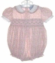 """<img src=""""https://p11.secure.hostingprod.com/@grammies-attic.com/ssl/images/blue-sold-1.gif""""> Carriage Boutiques Smocked Bubble with Pink Rosebuds"""