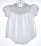 """<img src=""""https://p11.secure.hostingprod.com/@grammies-attic.com/ssl/images/blue-sold-1.gif""""> Carriage Boutiques White Bubble with Appliqued Baby Chicks"""