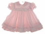 """<img src=""""https://p11.secure.hostingprod.com/@grammies-attic.com/ssl/images/blue-sold-1.gif""""> Ci Castro Pale Pink Baby Dress with White Eyelet Pinafore"""