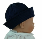 Classic Navy Blue Dixie Cup Style Sailor Hat with Embroidered Anchor for Babies