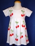 """<img src=""""https://p11.secure.hostingprod.com/@grammies-attic.com/ssl/images/blue-sold-1.gif""""> Cotton Knit Baby Dress with Hand Painted Cherries"""