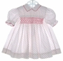 """<img src=""""https://p11.secure.hostingprod.com/@grammies-attic.com/ssl/images/blue-sold-1.gif""""> Custom Made White Smocked Dress with Red Flowers"""