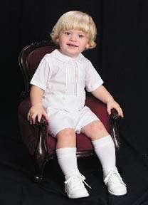 NEW Feltman Brothers White Button On Shorts Set for Toddler Boys (CC04122T) and NEW White Cotton Blend Knee Socks (BB0658)
