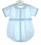 """<img src=""""https://p11.secure.hostingprod.com/@grammies-attic.com/ssl/images/blue-sold-1.gif""""> Feltman Brothers Pale Blue Romper with Scalloped Collar"""