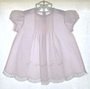 """<img src=""""https://p11.secure.hostingprod.com/@grammies-attic.com/ssl/images/blue-sold-1.gif""""> Feltman Brothers Pale Pink Dress with Tiny Pintucks and Matching Slip"""