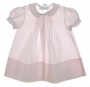 """<img src=""""https://p11.secure.hostingprod.com/@grammies-attic.com/ssl/images/blue-sold-1.gif""""> Feltman Brothers Pale Pink Pintucked Daygown with Lace Edged Embroidered Collar"""