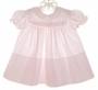 """<img src=""""https://p11.secure.hostingprod.com/@grammies-attic.com/ssl/images/blue-sold-1.gif""""> Feltman Brothers Palest Pink Smocked Dress with White Embroidery"""