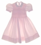 """<img src=""""https://p11.secure.hostingprod.com/@grammies-attic.com/ssl/images/blue-sold-1.gif""""> Feltman Brothers Pink Checked Smocked Dress with Lace Trimmed Collar"""