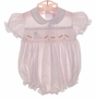 """<img src=""""https://p11.secure.hostingprod.com/@grammies-attic.com/ssl/images/blue-sold-1.gif""""> Feltman Brothers Pink Smocked Bubble with Bunny Embroidery"""