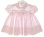 """<img src=""""https://p11.secure.hostingprod.com/@grammies-attic.com/ssl/images/blue-sold-1.gif""""> Feltman Brothers Pink Smocked Dress with Embroidered Ladybugs"""