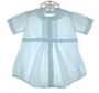 """<img src=""""https://p11.secure.hostingprod.com/@grammies-attic.com/ssl/images/blue-sold-1.gif""""> Feltman Brothers Romper with Pintucks and Embroidered Collar in Pale Blue or Pale Yellow"""