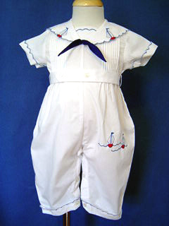 "<img src=""https://p11.secure.hostingprod.com/@grammies-attic.com/ssl/images/blue-sold-1.gif""> Glynne Percy Vintage Style Embroidered White Sailor Romper"