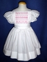 """<img src=""""https://p11.secure.hostingprod.com/@grammies-attic.com/ssl/images/blue-sold-1.gif""""> Handmade White Pinafore with Pink Smocking for Big Sister"""