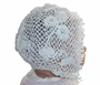 "<img src=""https://p11.secure.hostingprod.com/@grammies-attic.com/ssl/images/blue-sold-1.gif""> Heirloom 1890s White Cotton Crocheted Christening Bonnet with Elegant Floral Detailing"