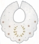 "<img src=""https://p11.secure.hostingprod.com/@grammies-attic.com/ssl/images/blue-sold-1.gif""> Heirloom 1920s White Batiste Bib with Gold Embroidered Laurel Pattern"