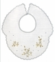 "<img src=""https://p11.secure.hostingprod.com/@grammies-attic.com/ssl/images/blue-sold-1.gif""> Heirloom 1920s White Batiste Bib with Gold Embroidery and Scalloped Edges"