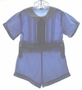 "<img src=""https://p11.secure.hostingprod.com/@grammies-attic.com/ssl/images/blue-sold-1.gif""> Heirloom 1930s Blue Button On Shorts Set with White Collar"