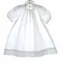 "<img src=""https://p11.secure.hostingprod.com/@grammies-attic.com/ssl/images/blue-sold-1.gif""> Heirloom 1930s White Bishop Gown with Blue Smocking"
