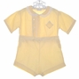 "<img src=""https://p11.secure.hostingprod.com/@grammies-attic.com/ssl/images/blue-sold-1.gif""> Heirloom 1930s Yellow Pintucked Button On Shorts Set"