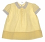"<img src=""https://p11.secure.hostingprod.com/@grammies-attic.com/ssl/images/blue-sold-1.gif""> Heirloom 1940s Yellow Dress with White Fagoted Collar and Cuffs"