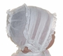 "<img src=""https://p11.secure.hostingprod.com/@grammies-attic.com/ssl/images/blue-sold-1.gif""> Heirloom Victorian Pintucked Organdy Baby Bonnet with Lace Trim"