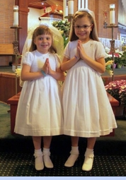 NEW Will'Beth White Voile Smocked Dress with White Embroidered Flowers and Cluny Lace Trimmed Sleeves (CC1339)