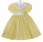 NEW Le' Za Me Yellow Dress with White Ruffled Collar and Flower Accent