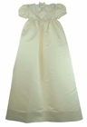 NEW Amanda Christy Ivory Silk Christening Gown