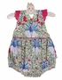NEW Claire and Charlie by Anavini Peacock Print Sunsuit with Ruffle Bottom