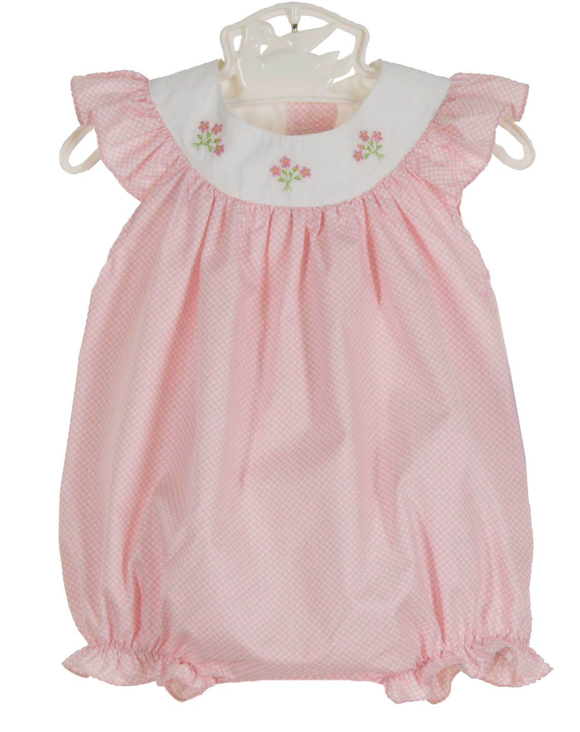 NEW Anavini Pink Dotted Bubble with Embroidered Flowers