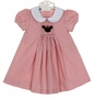 NEW Anavini Red Checked Dress with Minnie Mouse Embroidery