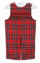 NEW Anavini Red Plaid Smocked Longall