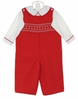 NEW Anavini Red Smocked Longall with White Shirt