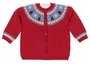 NEW Angel Dear Red Cotton Cardigan Sweater with Reindeer