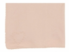 NEW Angel Dear Pink Cotton Knit Blanket with French Knot Heart