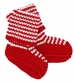 NEW Angel Dear Red and White Striped Cotton Knit Booties