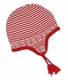 NEW Angel Dear Red and White Striped Cotton Pilot Style Hat