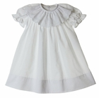 NEW Anvy Kids White Dress with Cross Embroidered Collar