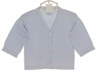 NEW Baby's Trousseau Blue Cotton Knit Sweater with Cable Design