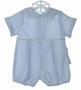 NEW Bailey Babies Blue Checked Romper with White Piping