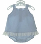 NEW Bailey Babies Blue Checked Sunsuit with Eyelet Ruffle