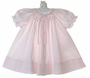 NEW Bailey Babies Pale Pink Smocked Daygown With Embroidered Rosebuds