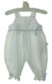 NEW Bailey Babies White Dotted Swiss Romper with Blue Ribbons