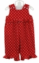 NEW Bailey Boys Red Dotted Pinwale Corduroy Romper with Ruffles