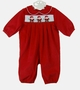 """<img src=""""https://p11.secure.hostingprod.com/@grammies-attic.com/ssl/images/blue-sold-1.gif""""> NEW Bailey Boys Red Pinwale Corduroy Romper with Santa Embroidery"""