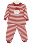 NEW Bailey Boys Red Striped Pajamas with Santa Applique